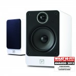 Q Acoustics 2020i White Black Bookshelf Speakers