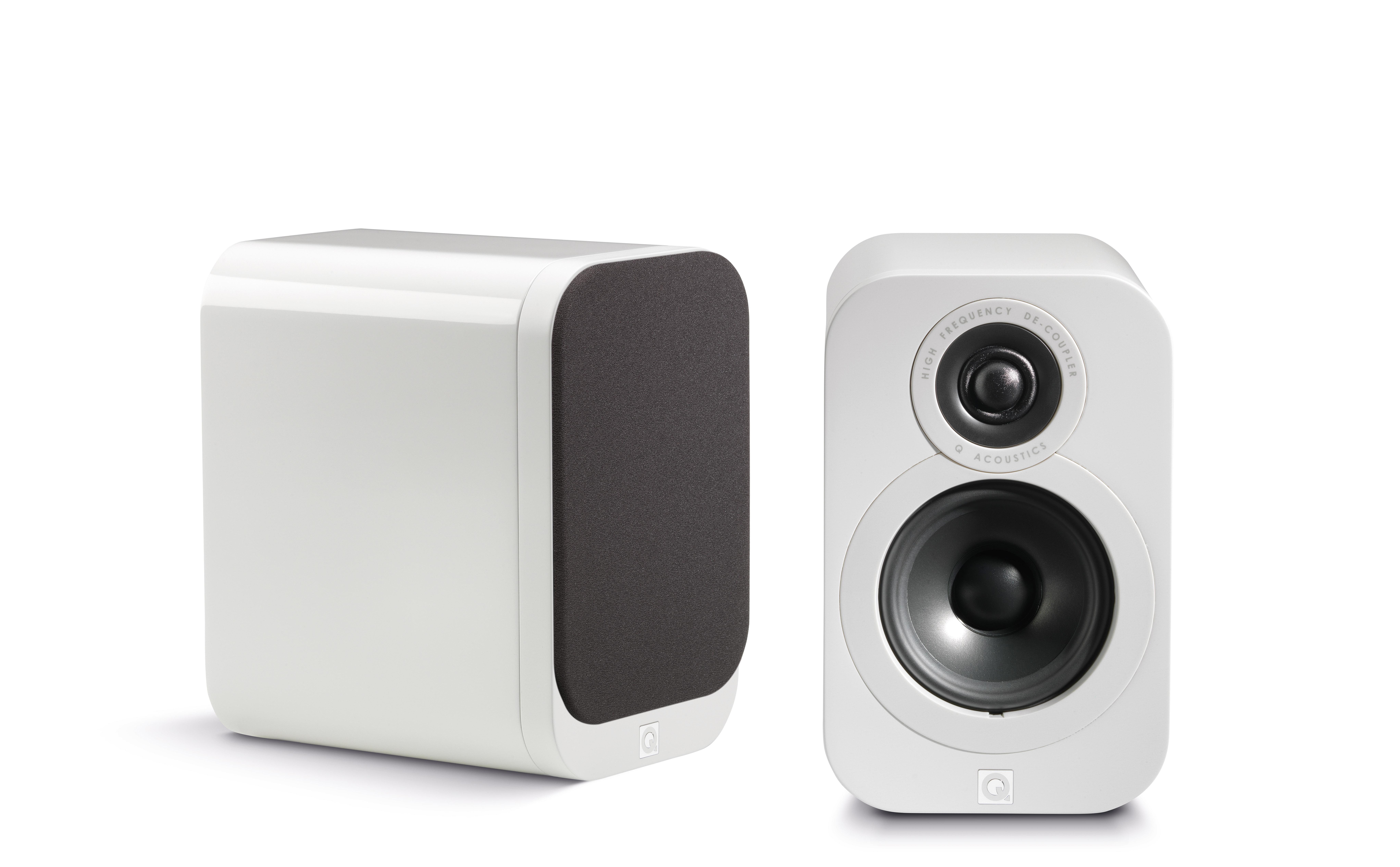 Q Acoustics 3000 Series 3010 Gloss White Compact Bookshelf Speakers
