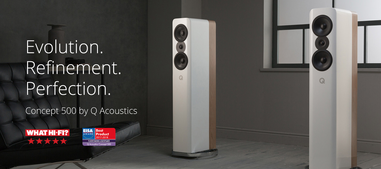 Concept 500 is the culmination of Q Acoustics continual