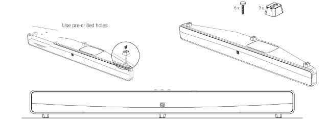 Q Acoustics Media 4 M4 Wireless Soundbar With Built In